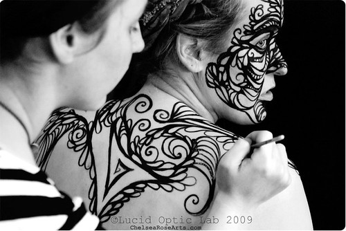 Chelsea Rose body painting
