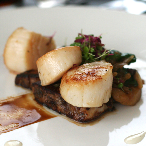 scallops & pork belly