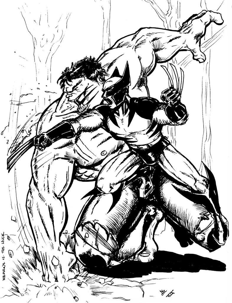 hulk vs superman coloring pages - photo#5
