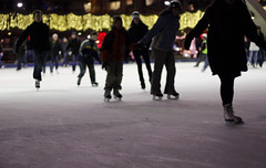 Anonymous (Julie Lavelle) Tags: camera city winter people toronto ice sports canon 50mm december bokeh skating skaters 18 2009 nathanphillipssquare