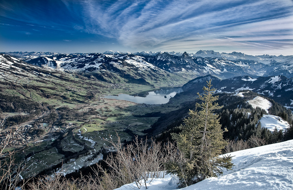 View from Rigi Scheidegg towards Lake Lauerz and Mythen
