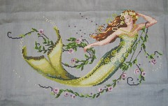 Mirabilia - Emerald Mermaid (jaellede) Tags: beads crossstitch mermaid perlen millhill mirabilia meerjungfrau kreuzstich