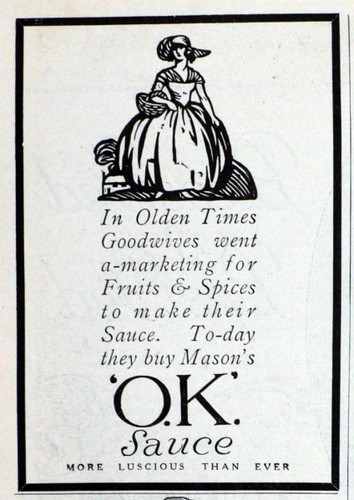 1922 OK Sauce Advert