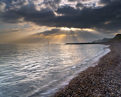 West Bay (peterspencer49) Tags: seascape clouds reflections coast unitedkingdom pebbles dorset seaview westcountry dorsetcoast jurrasiccoast seascene oceanveiw cliffwalks 5dmkll peterspencer stunningseascape
