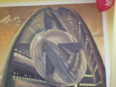 Nasa hanger with dirigible (mary hodder) Tags: california art wall painting mural market nasa traderjoes mountainview joes fresco hanger dirigible losaltos moffettairfield