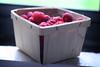 taste of summer (ginnerobot) Tags: light red summer food window fruit 50mm berries farmersmarket fresh delicious raspberry organic simple raspberries
