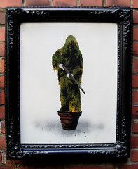 """sniper..."" in a classic frame (l.e.t.) Tags: street streetart pasteup art germany poster army graffiti sketch riot artwork stencil sticker faile screenprint artist gallery contemporary kunst wheatpaste banksy police exhibition pop spray popart camouflage sniper silkscreen artshow let"