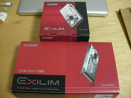 EX-S12 の箱(と EX-S600 の箱を比較)