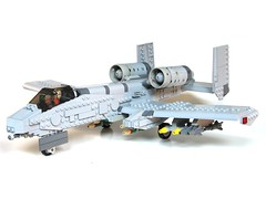 Warthog (psiaki) Tags: airplane fighter force lego air jet warthog a10 thunderbolt moc tankbuster thunderboltii