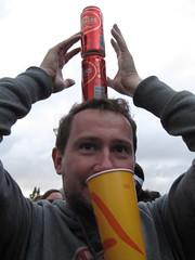 Lovebox Weekender (russelljsmith) Tags: uk friends red england music london cup yellow festival fun concert victoriapark europe gig drinks drunks balance cans 2009 lovebox loveboxweekender 77285mm loveboxweekender2009 lovebox2009 lastfm:event=861454