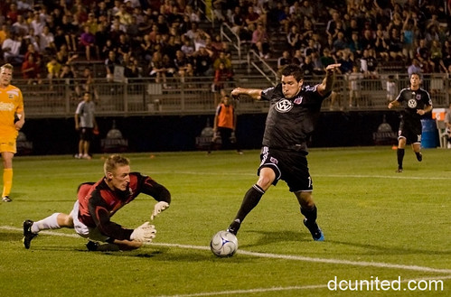 Chris Pontius helped lead DC past Rochester last night, can he do it again against Seattle? (Photo via DCUntied.com)