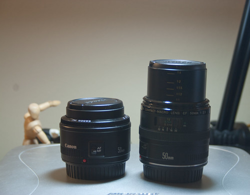50mm f1.8 and 50mm f2.5 Compact Macro Focused Out