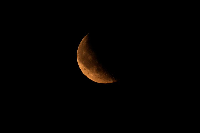Crescent Moon, July 20th '09