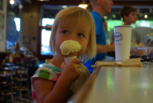 Sofiya and ice cream