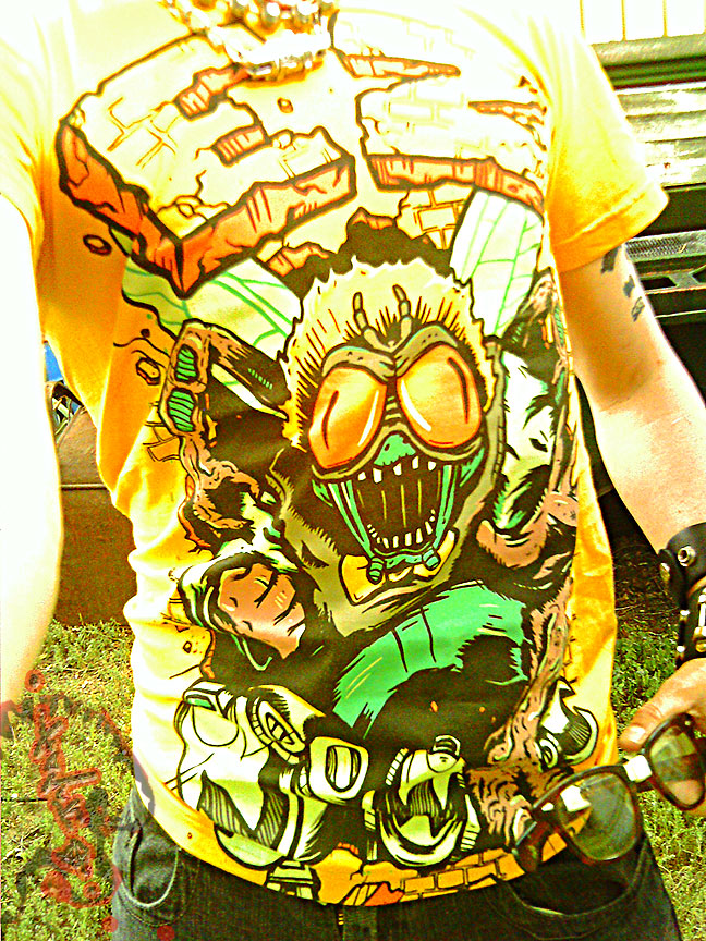 """""""Electric Zombie"""" limted edition - Bug Eyes Gold Tee { BAXTER STOCKMAN } //  B (( 2009 ))"""