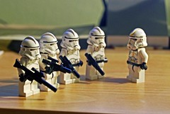 Troopers - Blaster Ed (Angryoffinchley) Tags: macro toys star lego troopers stormtrooper wars clone troopies
