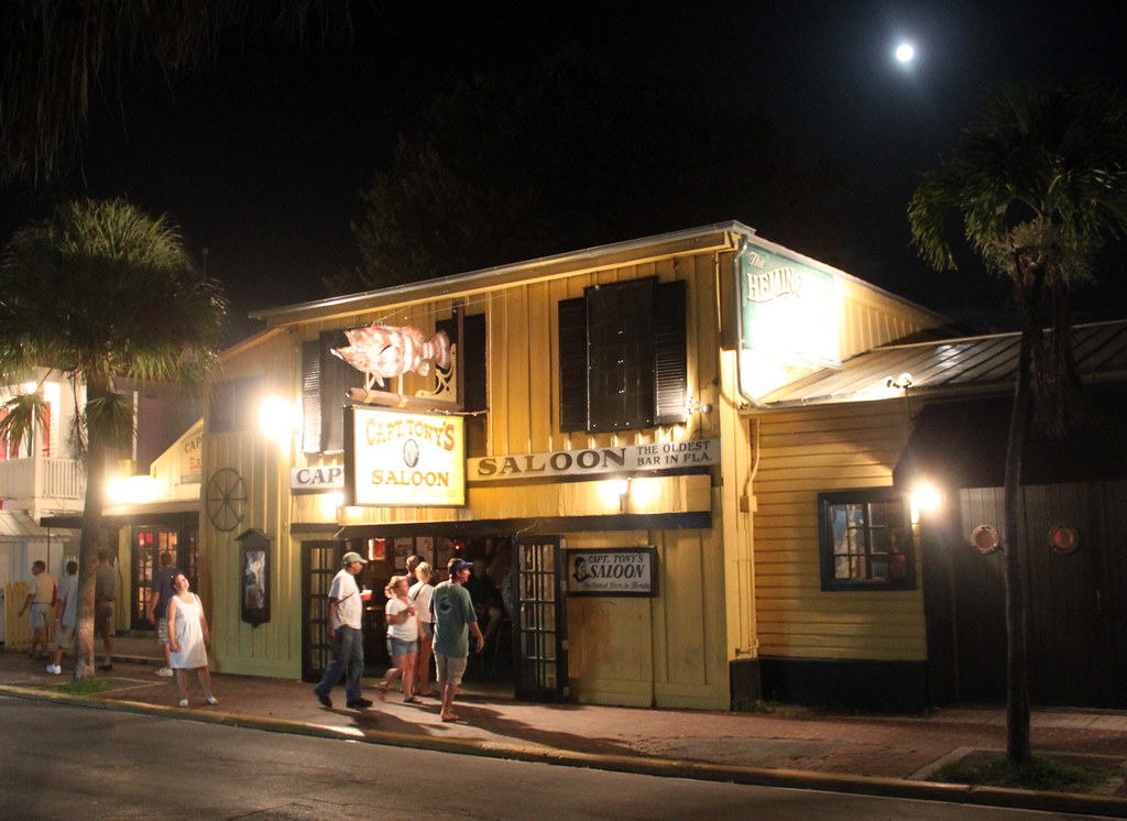 Florida - Capt Tony's Saloon, site of the original Sloppy Joe's and the location Hemmingway drank