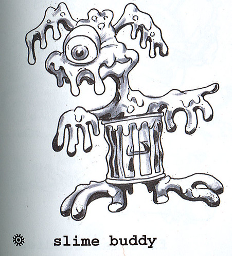 """Turtle Soup – Designs From The Classic TMNT Years""  the TMNT work of David Arshawsky :: Slime Buddy { Joe Eyeball } (( 1989 ))"