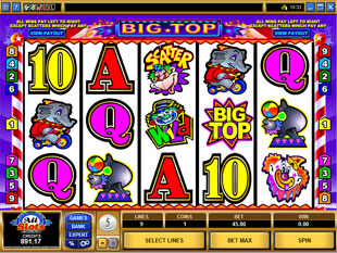 Big Top slot game online review