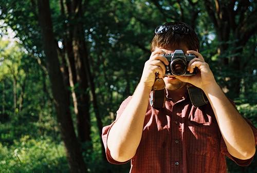 his dad's camera.