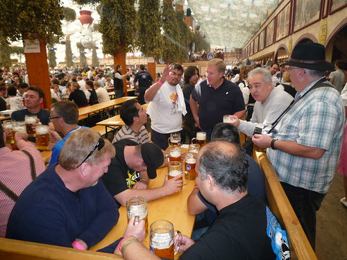 Our Oktfest group in the Hofbrau Fest Tent