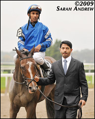 Music Note, Rajiv Maragh, and Saeed bin Suroor after the Beldame (Rock and Racehorses) Tags: ny belmont godolphin musicnote beldame saeedbinsuroor rajivmaragh r360wire ska6762