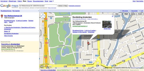 Google AdWords met maps kaart in advertentie