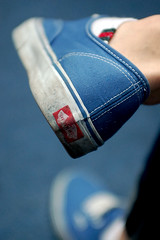Blueeee. (starsinmysocks) Tags: blue feet boyfriend shoes random vans nikond40