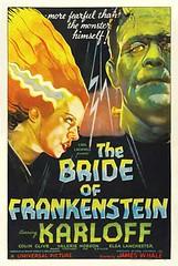 Bride of Frankenstein (1935) 2 (Paxton Holley) Tags: halloween vintage poster frankenstein horror monsters universal brideoffrankenstein sequel boriskarloff jameswhale elsalancaster
