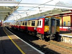 318253 at Troon (R~P~M) Tags: uk greatbritain train scotland unitedkingdom railway scotrail emu 318 spt troon multipleunit