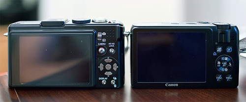 Canon S90 & Panasonic LX3 Rear View