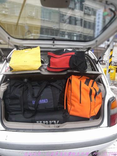katharine娃娃 拍攝的 3滿載的車箱。