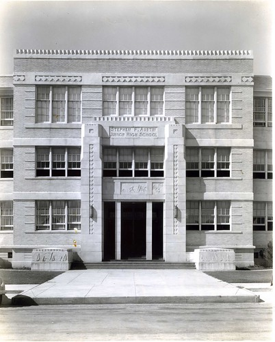 Stephen F Austin Jr High school in Galveston designed by Ben Milam