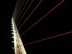 Night Lines (P-Kittye) Tags: california bridge abstract tag3 taggedout architecture tag2 tag1 sundial redding santiagocalatrava sundialbridge thecontinuum 2for2 pkittye geometriegeometry 1on1nightshotsphotooftheweek 1on1nightshotsphotooftheweekjanuary2010