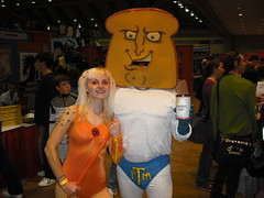 Powdered Toast Man. Hell yes! (Countess Spatula of Butt Cheese America) Tags: thundercats cheetara 80scartoons baltimorecomiccon