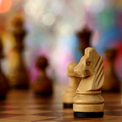 White Knight - chessboard study in depth of field