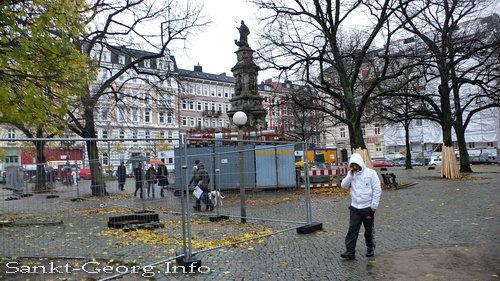 Hansaplatz Umbau in Hamburg St. Georg