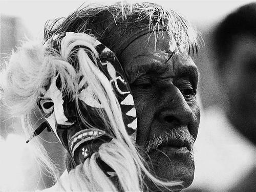 "Film homage, ""The Yaqui,"" 1916, Pascola dancer, New  Pascua, Arizona by David Lee Guss."