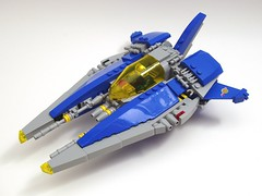LL-564 Wulf (peterlmorris) Tags: toy fighter lego painted moc ncs starfighter vicviper foitsop novvember neoclassicspace