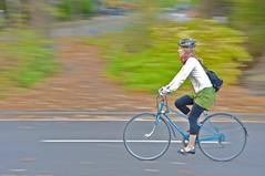 woman newyork bike bicycle scarf ride centralpark manhattan helmet foliage riding murray bluebike photowalkautumn