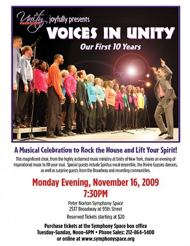 Voices in Unity- Concert Flyer