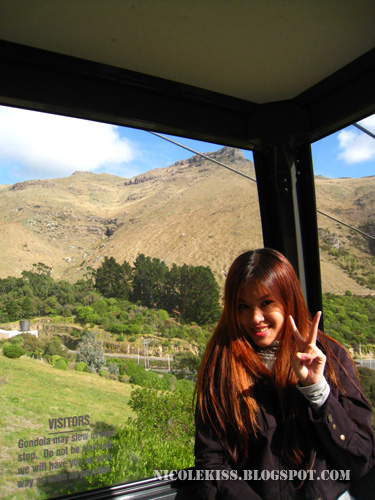 posing inside gondola