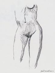 Desnudo (pedromolinarn) Tags: mujer torso dibujo desnudo lápiz