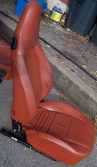 99PorscheCoupe9 (truckandcarseats) Tags: red leather 1999 porsche boxster coupe fronts