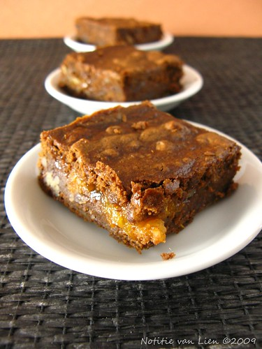 Chocolate-pumpkin brownies with apricot surprise (p.175)