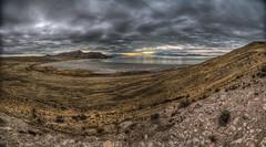 White Rock Bay Pano (Summit42) Tags: statepark panorama storm water utah photo mud salt dirty antelopeisland greatsaltlake darkclouds whiterockbay vertorama tokina1116mm