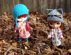 Andy and Percy Playing in the Leaves