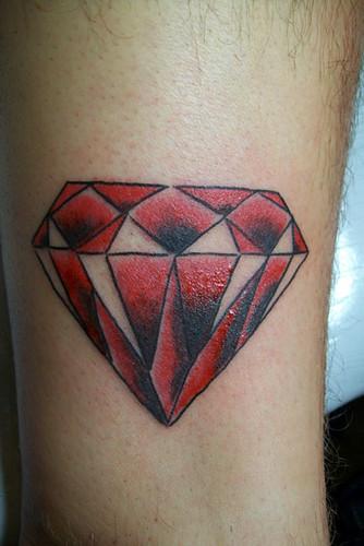 diamond old school style tattoo