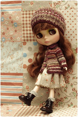 Miru ^.^ (megipupu) Tags: hat sweater doll dress handmade crochet knit kawaii blythe cardigan babysbreath megipupu