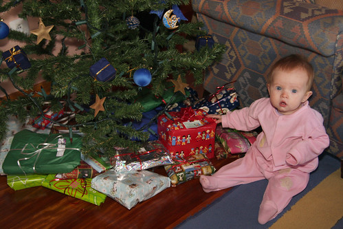 Nora with Christmas Presents
